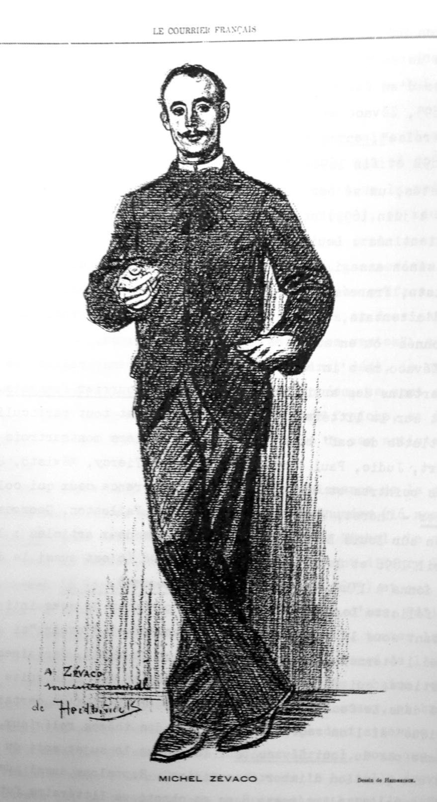 Zevaco par Oswald Heidbrinck dans le Courrier Français du 7 mai 1891