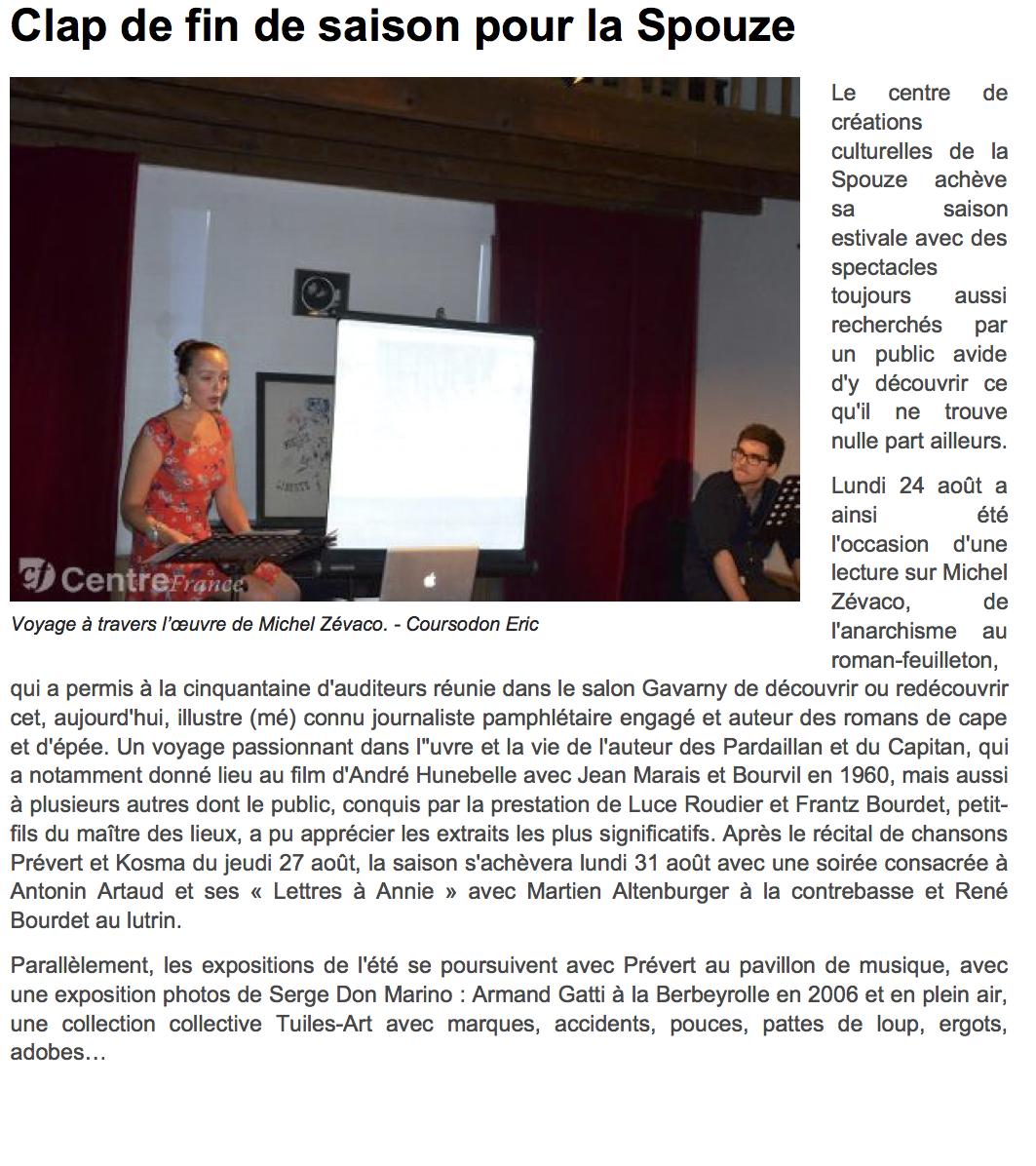 www.lamontagne.fr - Infos locales - CEL...- Clap de fin de saison pour la Spouze